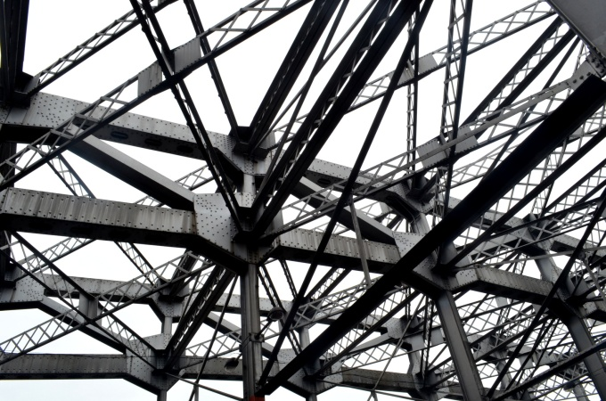 Steel bridge framework, built during the time of American Manila